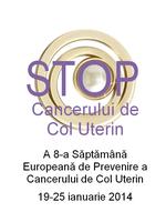 19-25 ianuarie 2014 - Săptămâna Europeană de Prevenire a Cancerului de Col Uterin