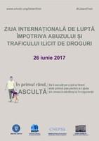 26 iunie 2017 – Ziua Internaţională de Luptă împotriva Abuzului şi Traficului Ilicit de Droguri