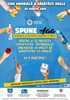 ZIUA MONDIALĂ  A SĂNĂTĂȚII ORALE - 20 martie 2019