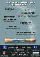 15 noiembrie 2018 - Ziua Națională fără Tutun