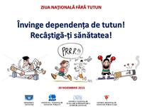 20 noiembrie 2015 - Ziua Națională fără Tutun